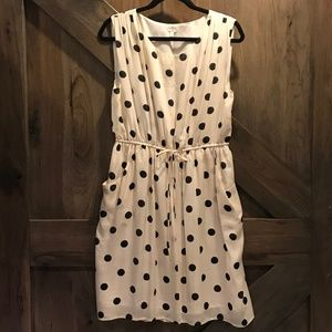 J. Crew Scatter-dot Silk Polka Dot Dress NWOT